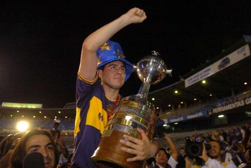 Riquelme celebrando Copa Libertadores 2007