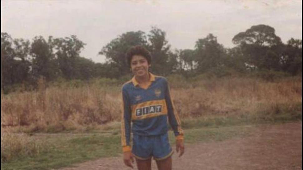 Riquelme con camiseta de Boca Juniors