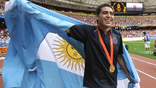 Riquelme en Juegos Olímpicos Beijing 2008