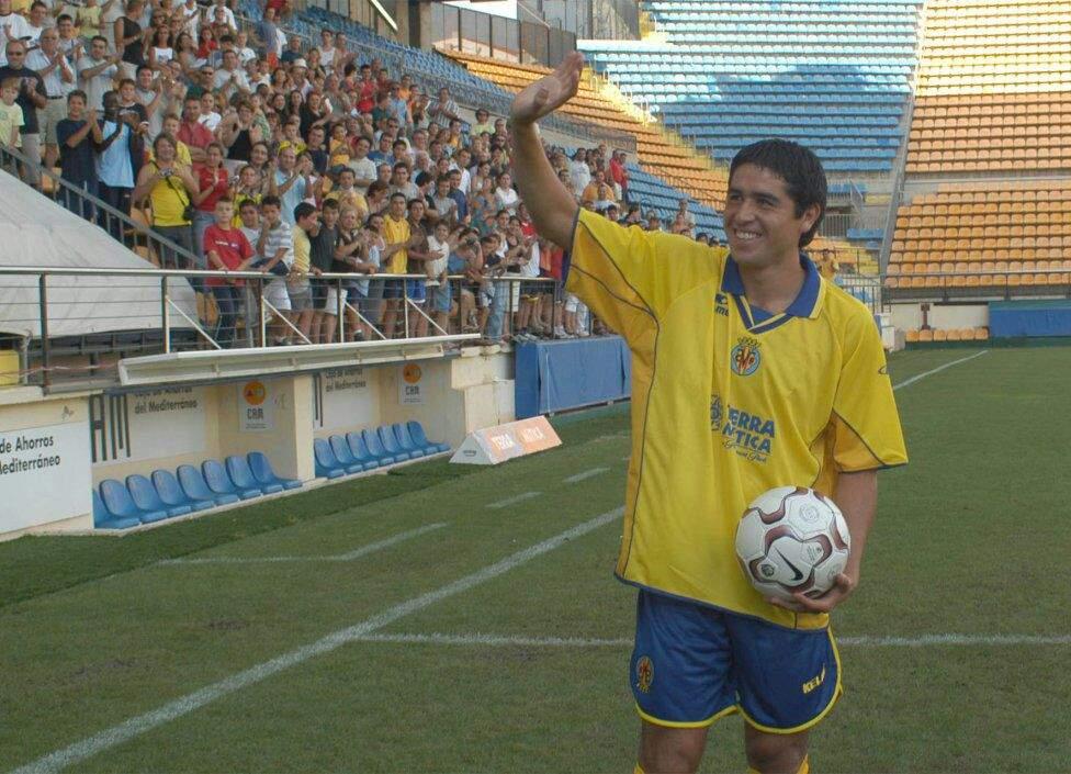 Riquelme en presentación con Villarreal