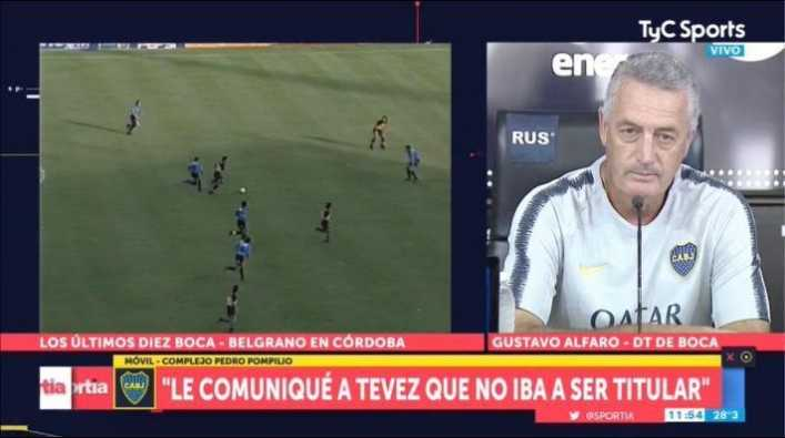 Alfaro le tuvo que explicar a Tevez por qué no iba a ser titular