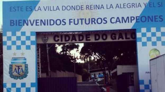 Mundial Brasil 2014: Argentina retiró polémico cartel de su concentración