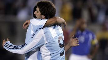 argentina se lucio ante guatemala