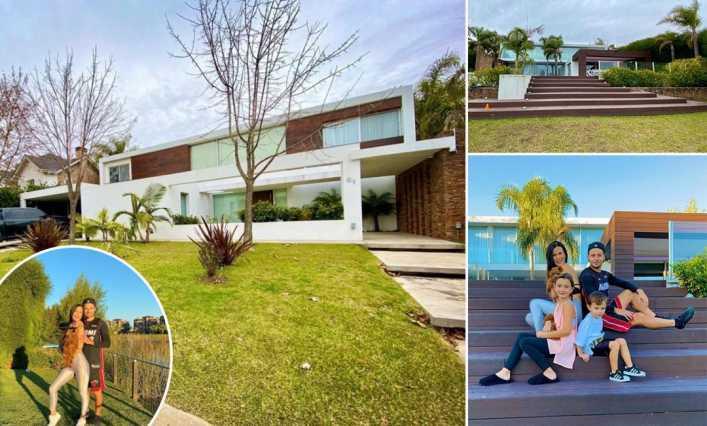 Así es la espectacular mansión de Natalie Weber y Mauro Zárate en un country