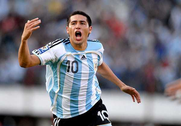 asistencias goles regates riquelme argentina