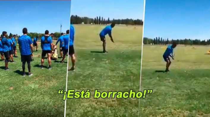 Barrios probó con el golf y sus compañeros lo volvieron loco