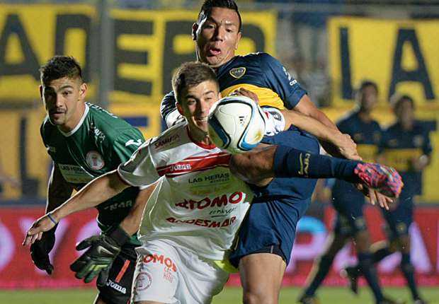 Boca sufrió y venció a Huracán Las Heras sobre el final