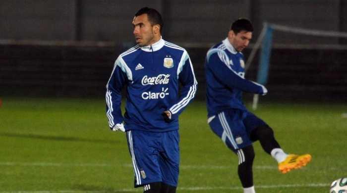 Con Messi y Tévez, la selección argentina ya trabaja en Estados Unidos