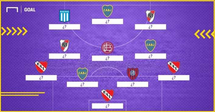 EL 11 IDEAL DEL FUTBOL ARGENTINO EN 2017