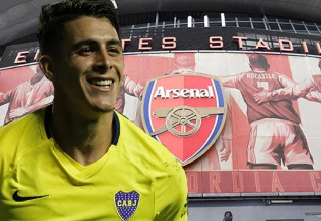 El Arsenal llegó a La Boca con €37 millones para llevarse Pavón