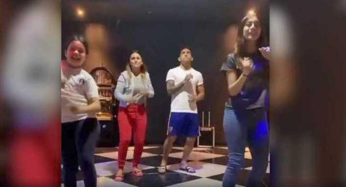 El bailecito tiktoker de Tevez