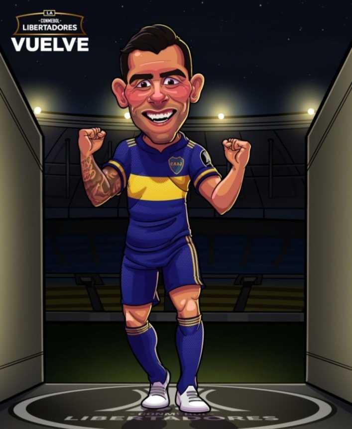 El divertido tuit de la Libertadores para Tevez