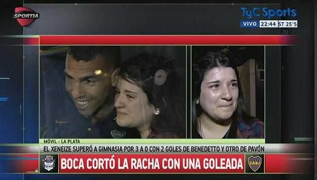 VIDEO: El emotivo gesto de Tevez con una fanática