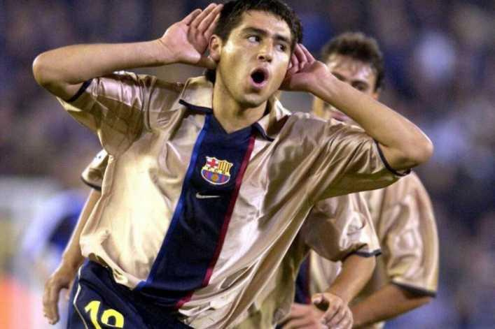 El mejor gol de Riquelme con el FC Barcelona