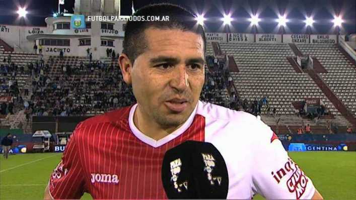 "Riquelme: ""El principal objetivo es volver a Primera"""