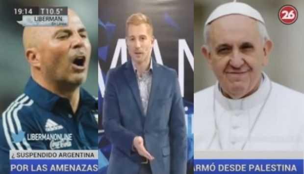 el rumor sobre Sampaoli y el papa Francisco que indignó a Liberman