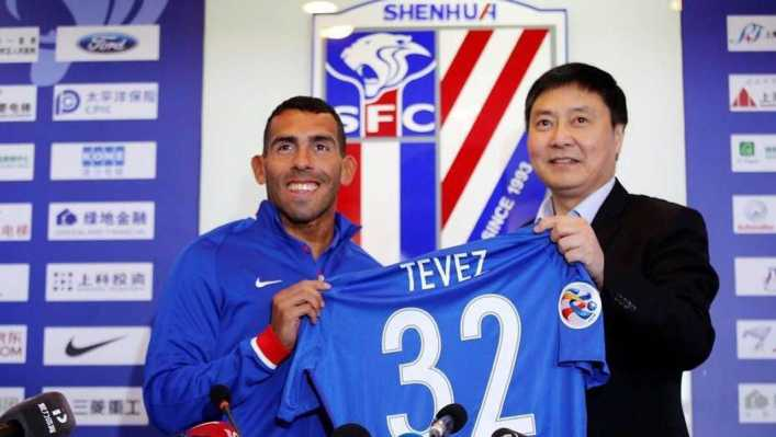El Shanghai Shenhua presentó oficialmente a Carlos Tevez