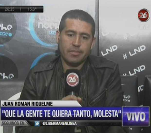 Riquelme estuvo mano a mano con Martín Liberman