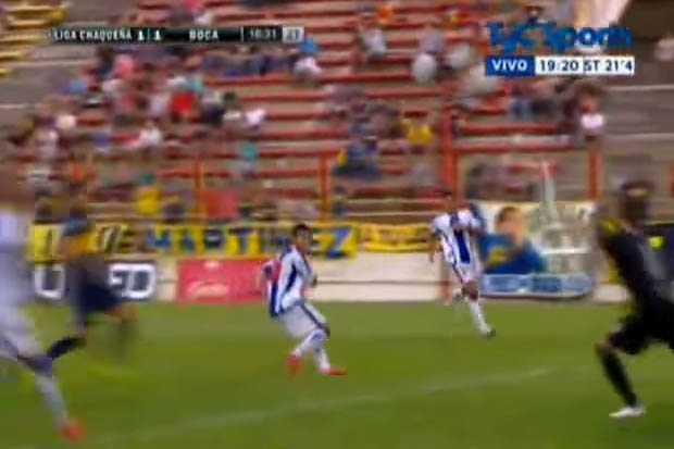 VIDEO: El golazo de 'Daniel Osvaldo' en el partido de Boca y Liga Chaqueña