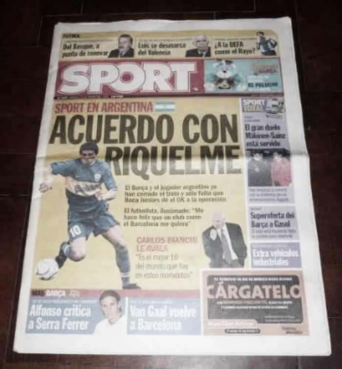 Hace 15 años se confirmaba la venta de Riquelme a Barcelona