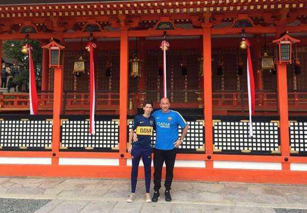 Los hinchas de Boca que viajaron a Japón para alentar a Barcelona
