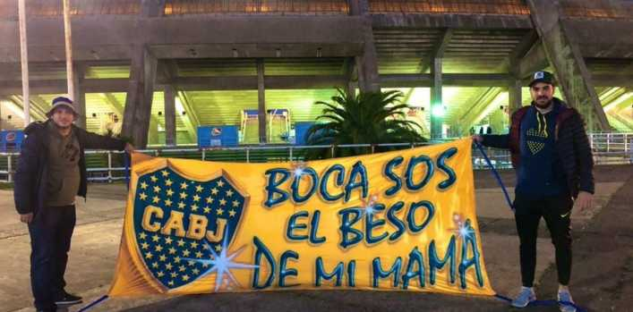 La frase de Maradona, hecha bandera