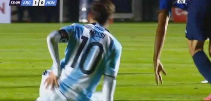 VIDEO: La lesión que sufrió Lionel Messi en el partido entre Argentina y Honduras
