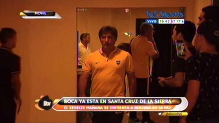 Luego de la práctica Boca ya arribó a Bolivia