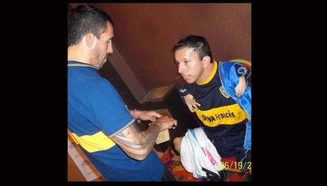 Luicho cumplió su sueño: estuvo con Tevez