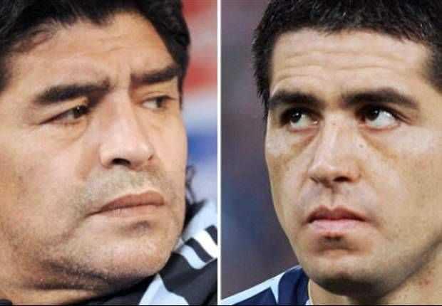 maradona vs riquelme preparen ring hasta messi participa