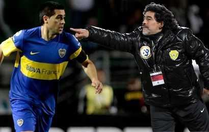 Maradona y Riquelme, del arte de la pelota al barro de la política