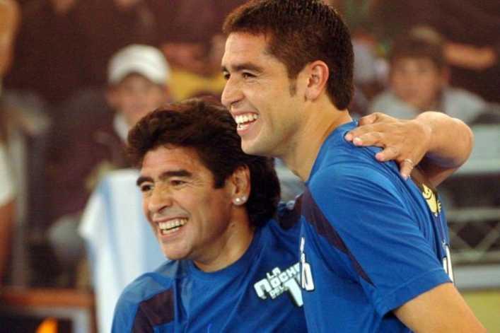 Mensaje lapidario de Maradona a Riquelme por su candidatura