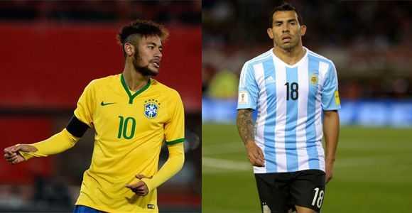 Neymar y Tévez principales ausencias de la Copa América Centenario