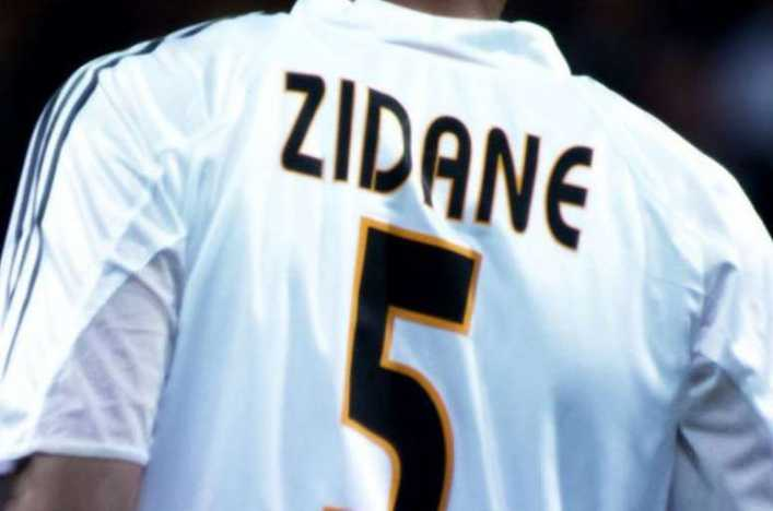 ¿Para quién fue la última camiseta de Zidane con el Real Madrid?