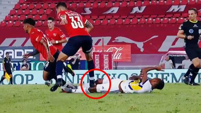 Qué dolor: los tremendos pisotones contra Sebastián Villa