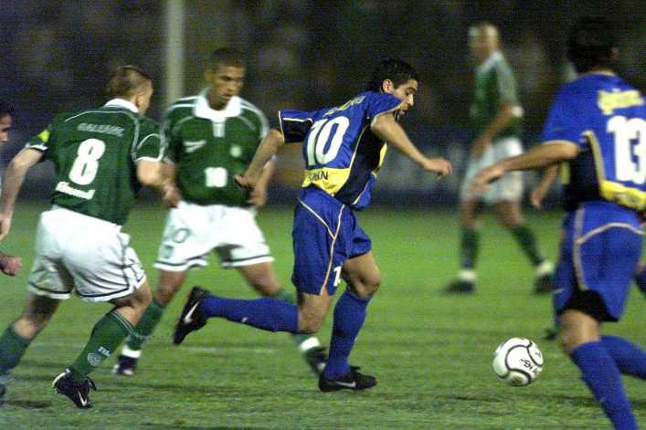 Riquelme: el falso nueve contra Palmeiras en 2001