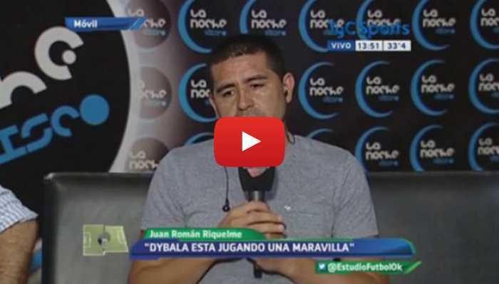 """VIDEO: Riquelme: """"El fútbol está teniendo lógica. Están ganando los mejores"""""""