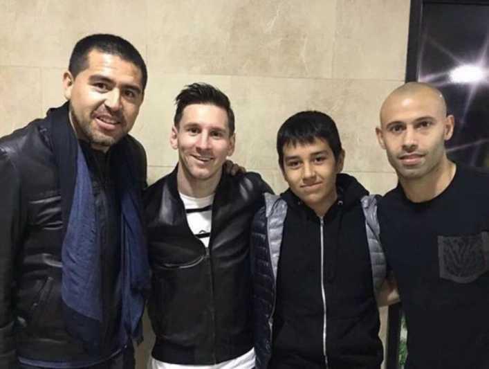 Riquelme y el sueño de ver a Messi con la de Boca