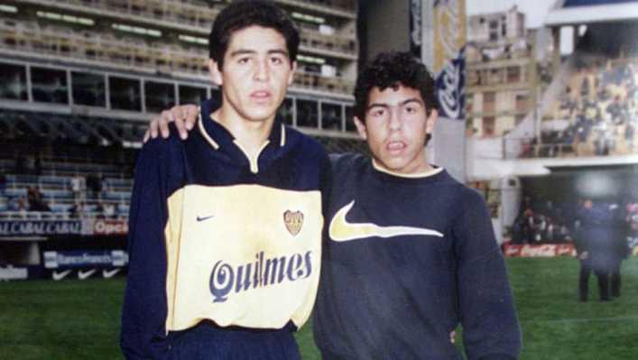 Riquelme y Tevez, dos ídolos que ganaron todo con Boca