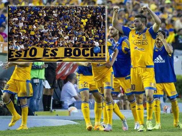 VIDEO: River Plate vs Tigres. Hinchas de Boca Juniors apoyan al equipo mexicano