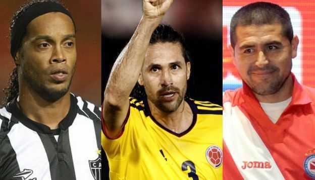 Ronaldinho, Riquelme y otros siete sudamericanos que pronto dejarán el fútbol