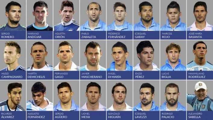 Sabella dio la lista de 23 jugadores para el Mundial