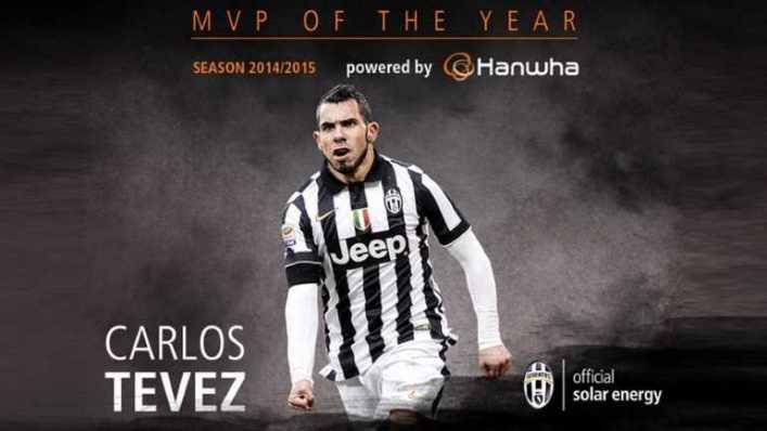 Tevez volvió a ser elegido como el mejor jugador de Juventus de la temporada