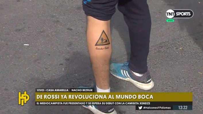 Un hincha de Boca se hizo un tatuaje en honor a De Rossi