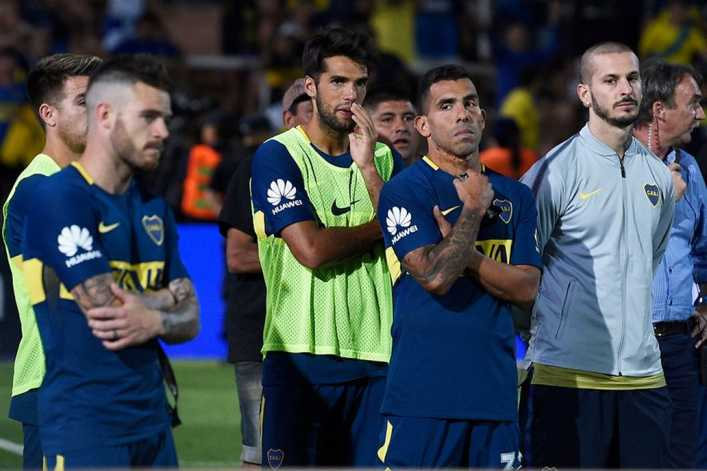 VIDEO: Bandera de Boca Juniors se rompió en pleno partido