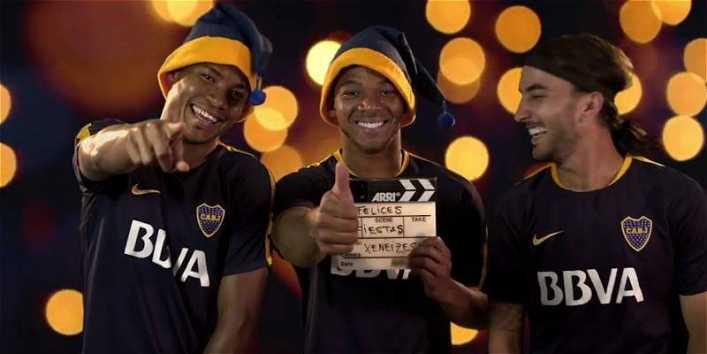 video el divertido mensaje de navidad de los colombianos en boca juniors