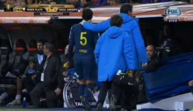 VIDEO: Fernando Gago salió por lesión en Copa Libertadores
