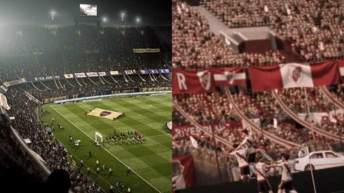 VIDEO: FIFA 18: Así se ven La Bombonera y el Monumental
