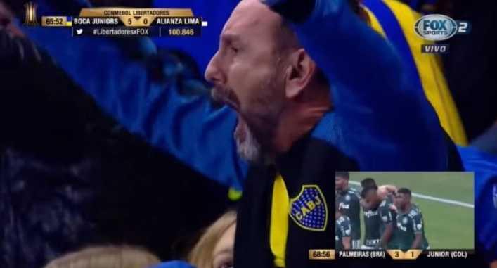 VIDEO: La Bombonera gritando los 3 goles a Junior