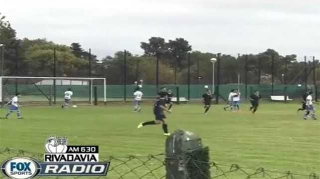 VIDEO: Mirá el golazo que clavó el hijo de Riquelme